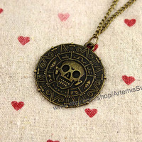 Skeleton for bronze magic skeleton necklace pirate personality necklace sweater chain necklace boy friends gifts