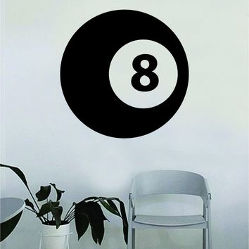 8ball Pool Decal Sticker Room Bedroom Wall Vinyl Art Decor Girl Boy Teen Kids Sports Pool Hall