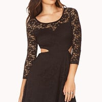 Sweet Lace Cutout Dress