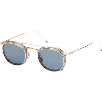 Thom Browne TB-710-B 12K Gold Clip Glasses