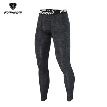 FANNAI Dry Quick Workout Running Tights Men Sports Leggings Sportswear Jogger Pants Skinny Compression Fitness Athletic Trousers
