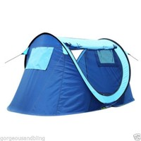 Instant Pop-up Foldable 2 person Camping Hiking Outdoor green Tent T02