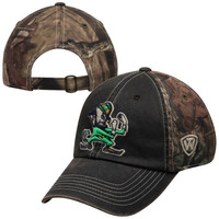 Notre Dame Fighting Irish Top of the World Dirty Camo Adjustable Hat – Navy Blue
