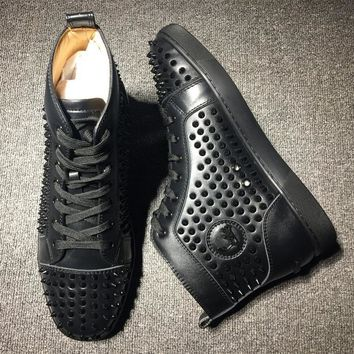 Cl Christian Louboutin Louis Spikes Style #1823 Sneakers Fashion Shoes
