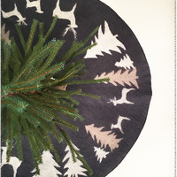 Forest Friends Tree Skirt | Blue