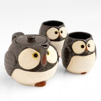 Poketo Woodland Owl Teapot and Cup Set