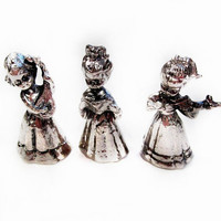 Cute Silver Miniatures, Choir Singers / Carolers