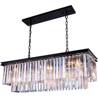 "Sydney 40"" L Chandelier, Mocha Brown, Clear Crystal, Royal Cut"