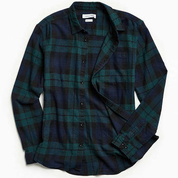 UO Plaid Flannel Button-Down Shirt | Urban Outfitters