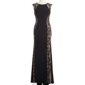 Xscape Sequin and Lace Accented Gown