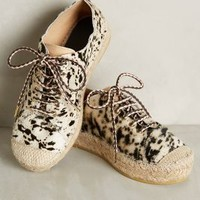 Hoss Intropia Spotted Espadrille Flatforms Ivory