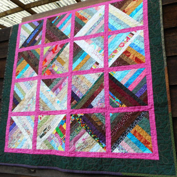 Bright baby quilt, quilted wall hanging, handmade lap quilt, wheelchair lap throw, quilted baby blanket, quilted table topper, rainbow