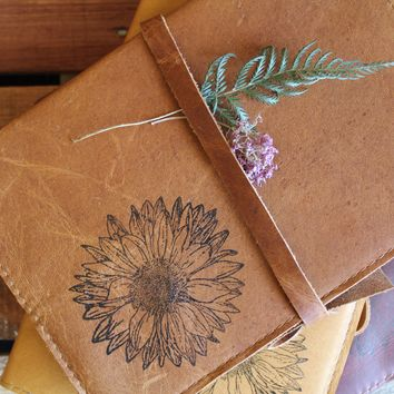 Sunflower Leather Journal