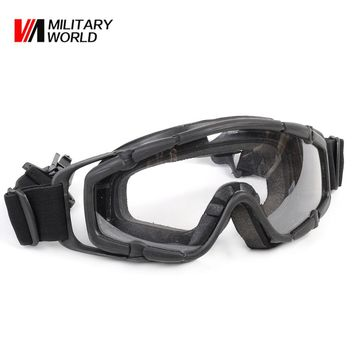 FMA Airsoft Tactical Paintball Game Goggle Glasses 2pcs of Lens for Helmet with Side Rails Motorcycle Racing Cycling Goggles