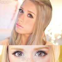 ROYAL VISION MACARON PINK Circle Lens Fashion Colored Contacts Enlarging Korean Contact Lenses | EyeCandy's