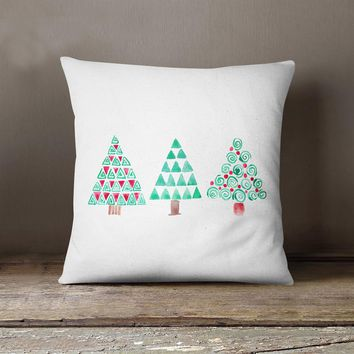 Christmas Rectangle Cushion Cover Silk Throw Pillow Case Pillowcase