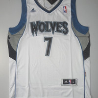 Rare Derrick Williams 7 Minnesota Timberwolves New Basketball Jersey Derrick William NBA Jersey All Stitched and Sewn Jersey Any Size S -XXL