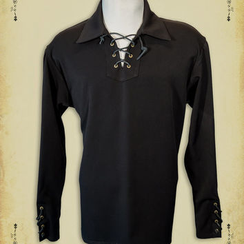 Medieval clothing William Shirt steam punk clothing medieval Victorian costume