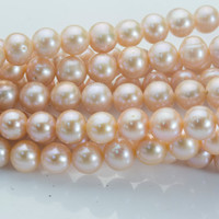 pink freshwater pearls - freshwater pearls beads - freshwater pearls for beading - pearl beads for crafts - potato beads -11-10mm -15inch