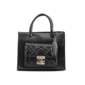 Versace Jeans Black Leather Handbag