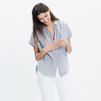 Central Shirt in Chambray Stripe
