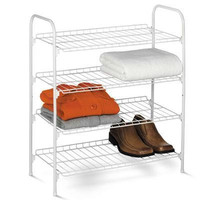 Four Tier Closet Storage Shelf