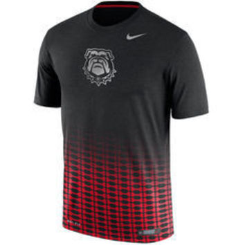 NCAA Georgia Bulldogs Mens Nike Dri-Fit NewDay Short Sleeve Black