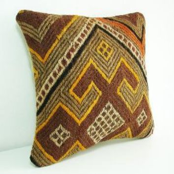 Hand EmbroideredTurkish Antique Rug Pillow Cover by sukan on Etsy