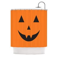 "KESS Original ""Pumpkin - Treat"" Shower Curtain"