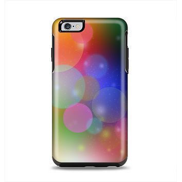 The Unfocused Color Rainbow Bubbles Apple iPhone 6 Plus Otterbox Symmetry Case Skin Set