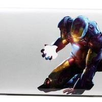 TOP DECAL Iron man 2- Apple Macbook Decal Sticker Humor Avery Partial Art Skin Protector