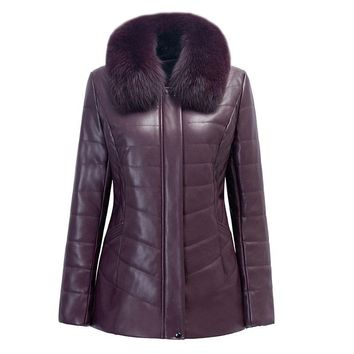 Winter Jacket Women Faux Leather Jacket 2017 New Fashion Fur Collar Coat Plus Szie XL-6XL Long Thick Hooded Parkas Female coat
