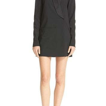 Tibi Satin Lapel Tuxedo Dress | Nordstrom
