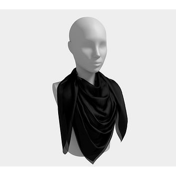 Solid Square Scarf - Black