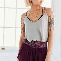 Ecote Evelyn Embroidered Yoke Short