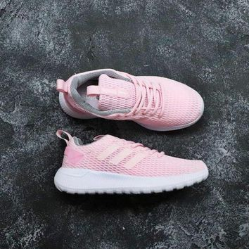 Adidas Neo Cloudfoam Life Racer CC White Pink - Best Deal Online