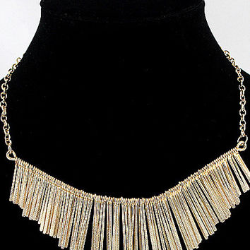 Fringed Collar Necklace