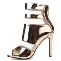 VONE5FW Women's Lola-12 High Heel in Rose Gold