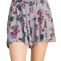 Full Bloom High-Waisted Shorts | Wet Seal