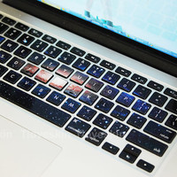 UniverseMacbook Keyboard Decal/Macbook Pro Keyboard by Tloveskin