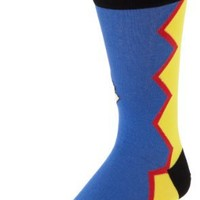 K. Bell Socks Men's Wrestling Guy Crew Socks, Yel/roy, 10-13