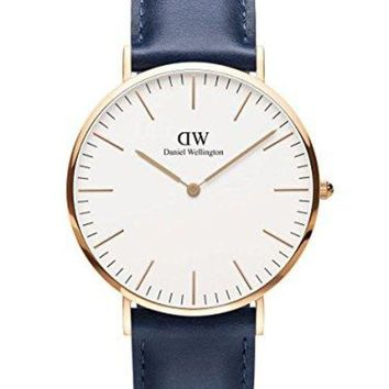 ESB3DS Daniel Wellington Limited Edition CLASSIC SOMERSET Mens 40mm Watch Rose Gold DW00100121