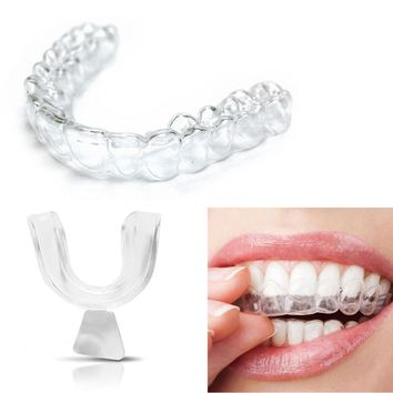 Useful 4pcs Silicone Night Mouth Guard for Teeth Clenching Grinding Dental Bite Sleep Aid Whitening Teeth Mouth Tray