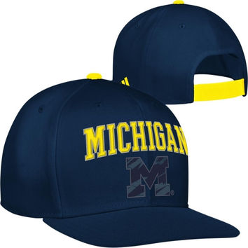 adidas Michigan Wolverines Navy Blue NCAA March Madness On Court Adjustable Snapback Hat