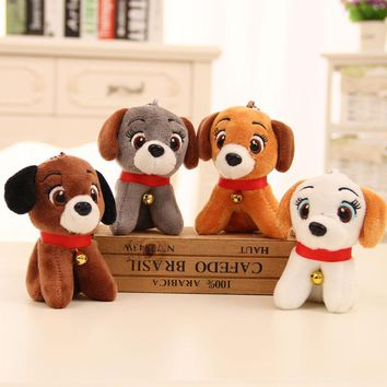 10cm 1pcs Plush Toy Simulation Dog Baby Sleeping Appease Doll Kids Birthday Gifts Bells wedding dolls soft cute on bag/car