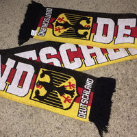 Sale!! Vintage DEUTSCHLAND Soccer Scarf GERMANY Football Jersey Shirt