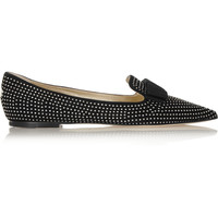 Jimmy Choo - Gala studded suede point-toe flats