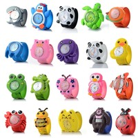 3D Cartoon watch 16 kinds of Animal Milk Dad Cute Children clock Baby kid Quartz Wrist Watches for Girls Boys