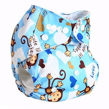 Bear Leader 2017 Baby Cloth Diaper Reusable Pocket Nappies Washable Modern Cloth Nappy Pul Diaper Cover Suit 0-2 Years 3-15KG
