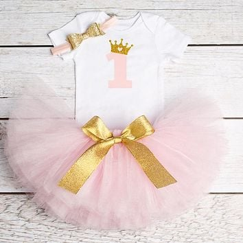 Baby Girl 1st Birthday Outfit Princess Dress Newborn Kids Clothes Tutu Party Clothing Christmas Dresses For Toddlers Christening